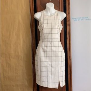 Banana Republic white grid dress